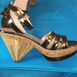 PRADA platform sandals!! Bamboo/Cork/leather!!! ❤️